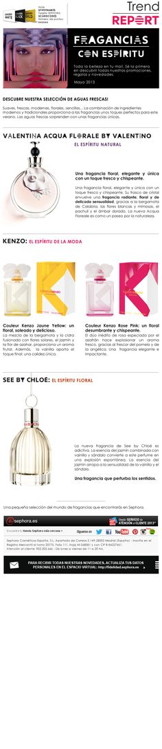 Newsletter Sephora - mayo 2013 Valentino, See By Chloé, Sephora, Chloe, Pink, Marketing, Floral, Shopping, Flowers