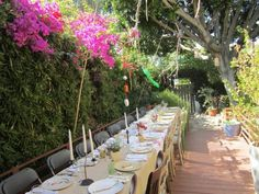 outdoor backyard dinner party- Set Tablware placemats in our petals design would look amazing here