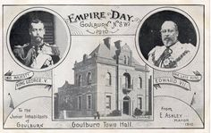 Empire Day postcard in Goulburn NSW c.1910.