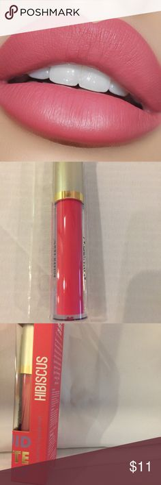 """New Matte Liquid Lipstick in """"Hibiscus"""" Listing is for a new liquid lipstick. A pretty rose pink. Finish is Matte. Wand Applicator. Large Tube 5g. Price Firm ❤️ MM Makeup Lipstick"""