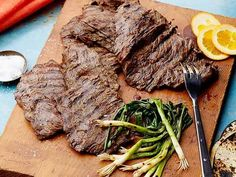 Get Beer-Marinated Grilled Skirt Steak Recipe from Food Network