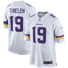 86d50a9a2 Men s Minnesota Vikings Adam Thielen Nike Purple Game Jersey
