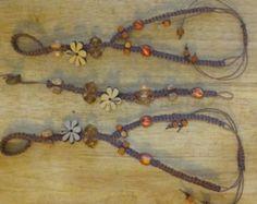 Macrame, beaded, hemp, barefoot sandal and bracelet.