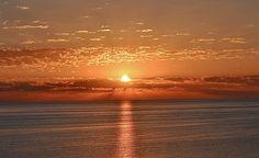 sunrise in San Felipe, Mexico.