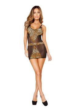 #FashionVault #roma #Women # - Check this : Black Cheetah 2Pc Intimate Dress for $51.99 USD
