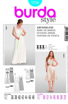 Purchase Burda 7256 dress and read its pattern reviews. Find other Dresses, Formalwear,  sewing patterns.
