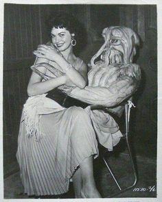 Valerie Allen and alien from I MARRIED A MONSTER FROM OUTER SPACE (1958).