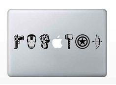 avengers macbook decals ipad decals mac by GETWickedSticks on Etsy, $6.99