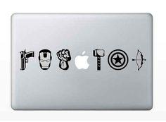 avengers macbook decals ipad decals mac by GETWickedSticks on Etsy, $6.99