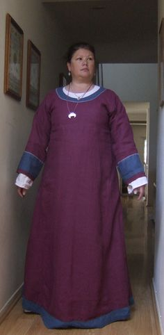 The maker describes this as Anglo Saxon Dress. The gown works for AS, but the jewelry is not AS.