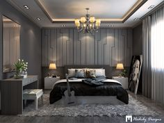 Artistic Bedroom Design in Cairo on Behance bedroom Artistic Bedroom Design in Cairo Ceiling Design Living Room, Bedroom False Ceiling Design, Hotel Room Design, Master Bedroom Interior, Room Design Bedroom, Bedroom Furniture Design, Master Bathroom, Modern Hotel Room, Modern Luxury Bedroom