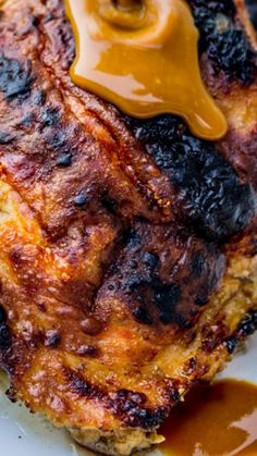Slow Grilled Mustard Chicken ~ This recipe turns out the most tender, moist, juicy grilled chicken I've ever had. It's a total game-changer!