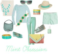 Mint Obesession, created by chicsaturday on Polyvore