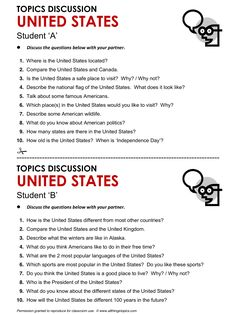 United States, English, Learning English, Vocabulary, ESL, English Phrases, http://www.allthingstopics.com/united-states.html