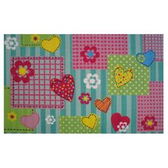 The Fun Rugs Fun Time Hearts and Flowers Area Rug is a cute and pleasant way to furnish your child's room. It has gorgeous visual appeal that comes from the pretty imagery that it features on its face side. This rug is machine-woven, and boasts a sturdy structure that can withstand the wear and tear that inevitable comes with a child's use. The Fun Time Hearts and Flowers Area Rug from Fun Rugs is made from high calibre nylon that serves to lend it amazing durability, ensuring a healt...