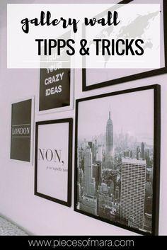 In 5 Schritten zur Gallery Wall - Ideen, Inspirationen,... piecesofmara.com Bilderwand, Gallery Wall, Bilder Wall, Tipps und Tricks Lounge, Gallery Wall, Poster, Inspiration, London, Instagram, Frame, Interior, Blog