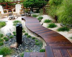 terrasse en bois avec déco façon plage