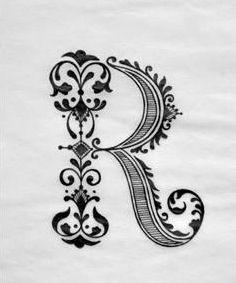 Robin Identity Letter R Bw Ram55 Alphabets Lettering