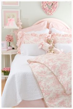 twin bedding for girls | ... Comments by Cuddles Kids Bedding Boutique − girls pink twin bedding