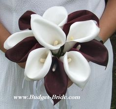 Image detail for -maid of honor bouquet wedding flower bouquet with 12 calla lilies ...