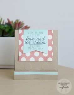 Tsuruta Designs: Countdown to Confetti Day Three: Love & Ice Cream with coordinating Confetti Cuts