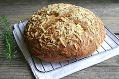 Cheese Please: Rosemary Asiago Cheese Bread {Whole Wheat}