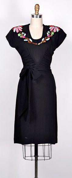 ★ vintage 1940s dress | Garland Botanical Dress