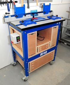 Kreg router table cabinet woodworking jigs and tools pinterest kreg router table cabinet almost finished projects workshop tours and past mistakes greentooth Images