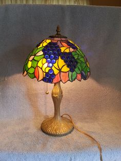 Hey, I found this really awesome Etsy listing at https://www.etsy.com/listing/246329025/stained-glass-lamp-grape-theme