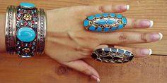 Turquoise Ring. Statement turquoise ring. Saddle by ZamarutJewel