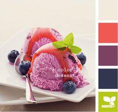 color dessert