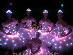 new led ballet skirt lace dress luminous swan dance costumes. Quencenera Dresses, Dresses For Teens, New Dress Pattern, Dress Patterns, Light Up Dresses, Light Up Costumes, Fru Fru, Led Dress, Fancy Dress