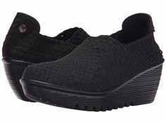 Women's Shoes Bernie Mev Gem Woven Slip On Wedges Black