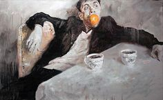 Kostya Lupanov Self Portraits Wilhelm Sasnal, Contemporary Art, Arts And Crafts, Drawings, Photography, Inspiration, Table Manners, Male Portraits, Inspire