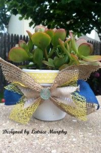 Dress Up a Clay Pot & Add Some Color to Your Patio from @Latrice Gray Murphy