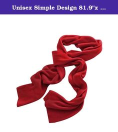 """Unisex Simple Design 81.9""""x 11.8"""" Rectangle Shape Scarf Neckerchief. This knit scarf is a wonderful accessory, it is perfect for women to wear in winter. It is great to wear in outdoor, partygoing, etc. Knitted Long Scarf Hand Wash Cold ."""
