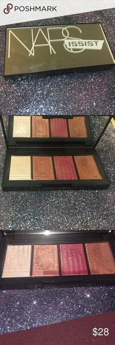 NARSissist dual intensity cheek palette Contains an iridescent highlighter, two blushes (peach and berry toned), and a contour shade. Slightly used. NARS Makeup Blush