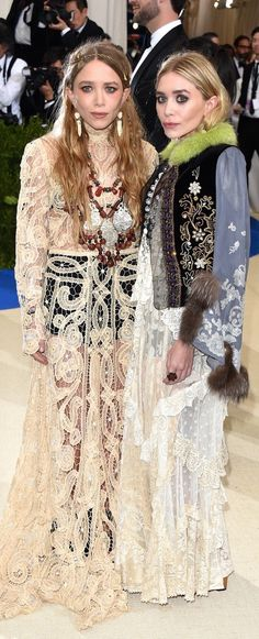 Mary-Kate and Ashley Olsen at the 2017 MET gala