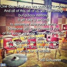 #WillSchuesterQuotes #GleeSeason3