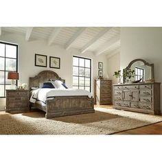 The ruggedly handsome Progressive Furniture Meadow Panel Bed creates your ideal casual, sophisticated bedroom. This bed is made of rough sewn salvaged. 5 Piece Bedroom Set, Kids Bedroom Sets, Bedroom Furniture Sets, Large Furniture, Dining Room Furniture, Bedroom Ideas, Bedroom Decor, Metal Furniture, Furniture Ideas