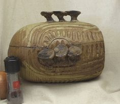 Check out Vintage Brown Clay Casserole w/ Lid, Clyde Gobble Pottery Clay Pot, with Original Cook Book,1971,Antique, #VH3036 on ckdesignsforyou