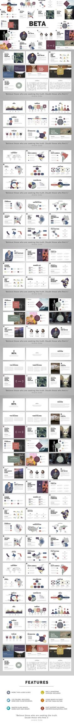 Beta | Powerpoint Template. Business Infographic