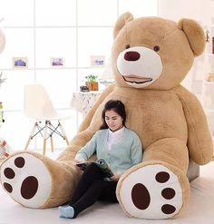418.00$  Buy here - http://alih4x.worldwells.pw/go.php?t=32508318601 - 2.6m 3.4m Size Huge Size Teddy Bear Fat Bear Plush Toy Christmas Gift Teddy Bear Doll Finished Stuffed Bear  DOll