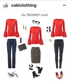 The trumpet cardi! Great to pair with fall and the move into Spring! Www.calliekasprzak.cabionline.com