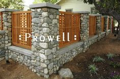 Stone Fence Columns | Prowell's Garden Gates #10