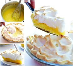This easy lemon meringue pie recipe is the perfect old-fashioned dessert recipe to make in the spring and summer months. Aunt Irene's Old-Fashioned Lemon Meringue Pie is sure to remind you of days gone by. Brownie Desserts, Oreo Dessert, Mini Desserts, Coconut Dessert, Lemon Dessert Recipes, Pie Recipes, Easy Desserts, Delicious Desserts, Awesome Desserts
