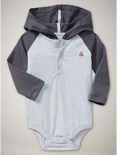 Raglan Hoodie Bodysuit-baby gap
