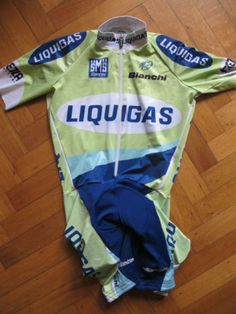 LIQUIGAS-BIANCHI-PROTEAM-2005-SKINKSUIT-TRACK-CYCLING-JERSEY-Sz-40-XS