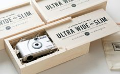 origianl 35mm toy camera  packaging by four corner store packaging