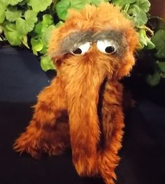 Vintage Plush Snuffy Snuffleupugus Big Birds friend from Sesame Street. Great vintage stuffed animal by Knickerbocker.  Approx 14 tall by 16